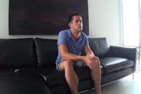 gayCastings unshaved hole gets fucked for howdys first time on camera.