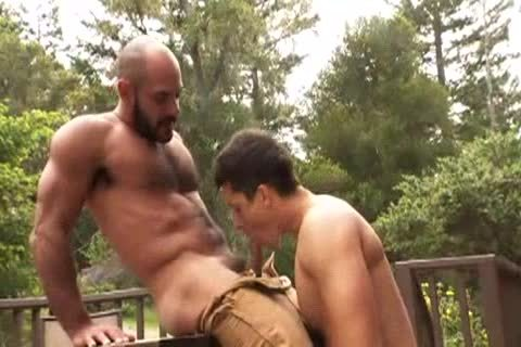 hairy Muscle Bald Bear drills Jay Roberts
