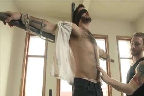 bdsm - juicy hairy dude acquires tied Up And Edged.