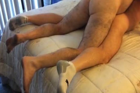beautiful bushy Daddy Came Back To Breed EJ, drilled Him admirable And Gave Him his load, EJ got to have a pleasure That Hard cock For A while El Cali
