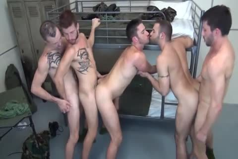 5 Military guys unprotected Double pound In Barracks