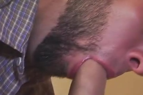 nice penis Swallowing From Bearded stud