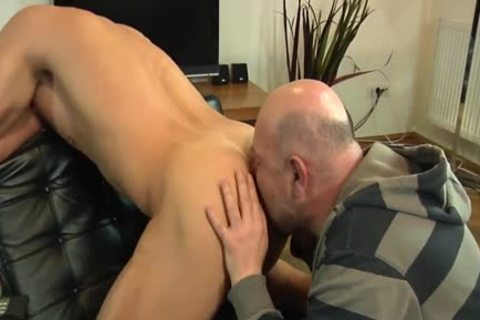 Euro amateur Hunk Cocksucked And booty Rimmed