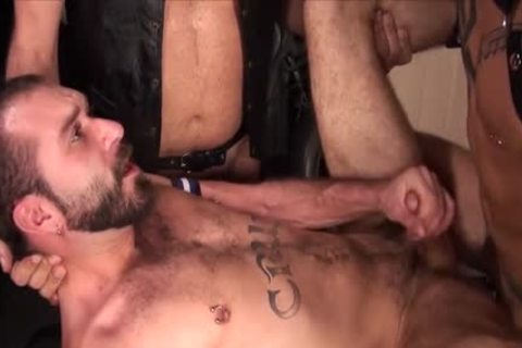 big rod Bear 3some And cumshot