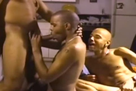 A bunch Of African Greek Gods acquire Down And messy A hardcore butthole Rump bunch orgy With Their BBC