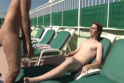 two males banging On The Pool