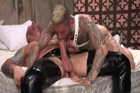 Tattoo'd Muscle Beefcakes With Bum Love Behind banging Fetish take up with the tongue 10-Pounder And Take A semen flow