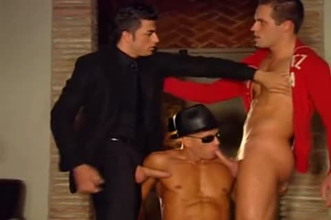 A Fit weenie twink Is Getting Passanatly Anally hammered Firm And deep From Two homo Father