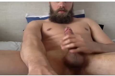 yummy lad With A Beard Beats His dick