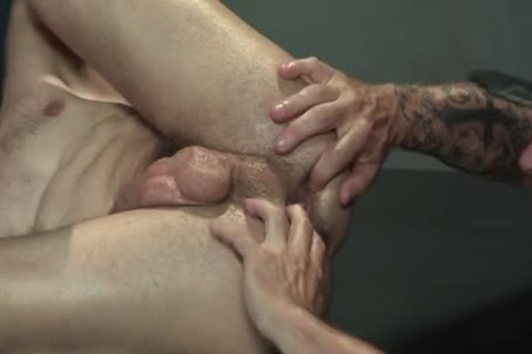 Muscle Bear Foursome And ball cream flow