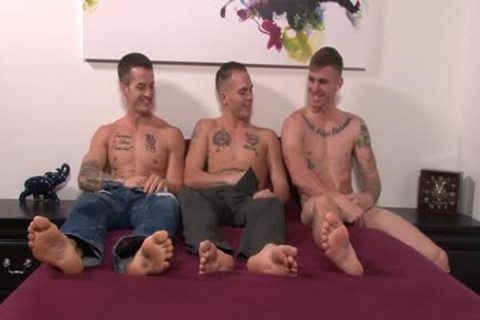 enormous penis gay trio And ball batter flow