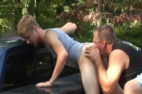 Daddy bonks Dillion unprotected Outside