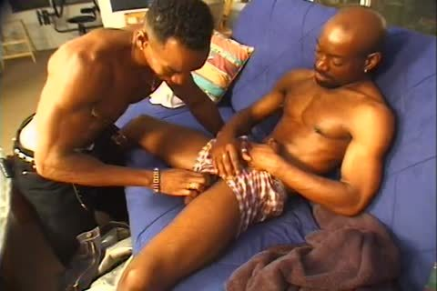 Chuck And Cory Are Two darksome Males Having anal job