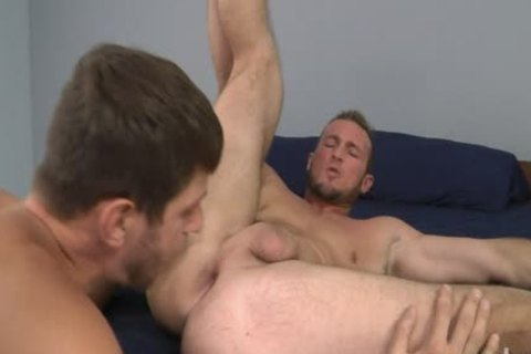Bearded Straight males Trying Out gay Porn