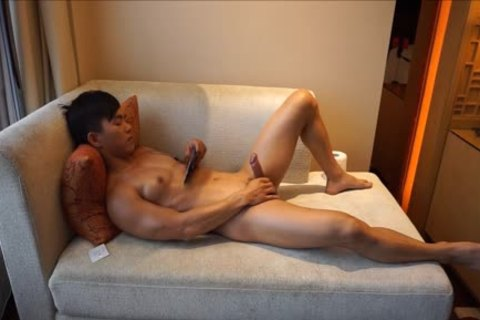 pumped up College jock With Muscle And moist penis