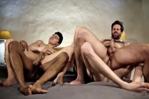attractive homosexual double penetration With ejaculation
