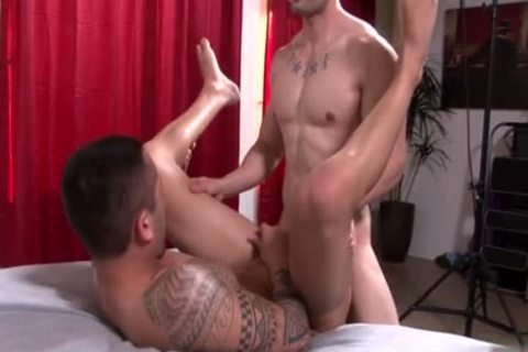 Muscle gay ass job And ejaculation