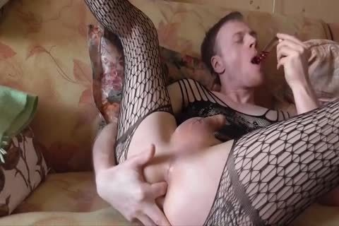 Lana Tuls - Crossdress And Assplay With toys And ejaculate flow