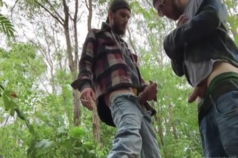 2 Rednecks engulf weenie And drink a lot of urinate outdoors