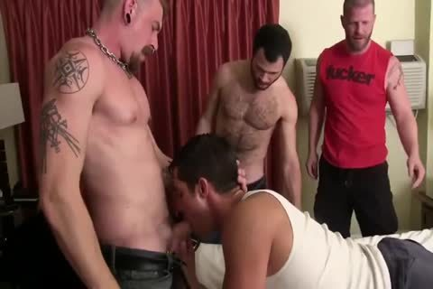 Three lewd homosexual males With throbbing ramrods Use lewd homosexual nude anal - GayTV