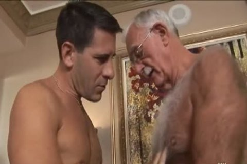 hairy grandpa Mutual Masturbation With Younger Coworker