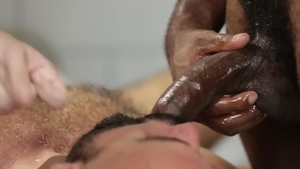 IconMale - Hairy Adam Russo next to Armond Rizzo blowjob cum