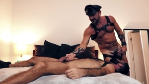 BROMO - Jake Nicola escorted by Vince Parker in the bed